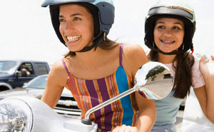 Motorbikes are more likely to be owned by women